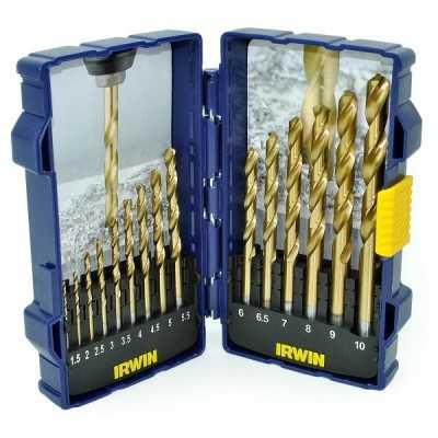 Zestaw wierteł tytanowych do metalu HSS PRO-TiN 15szt. Irwin 10503991