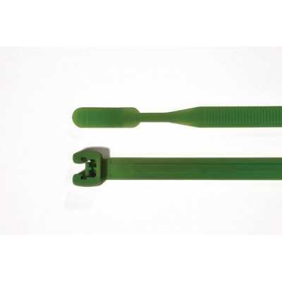 Opaska kablowa 210x4,7mm Q50R-PA66-GN 100szt. HellermannTyton 109-00183