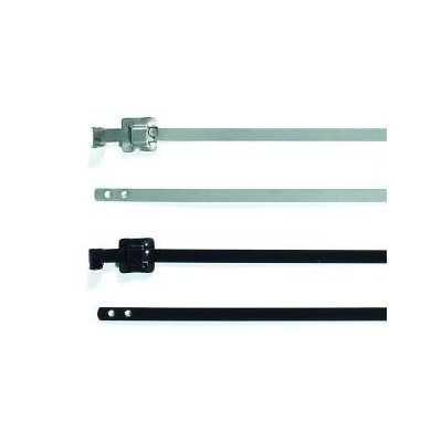 Opaska kablowa stalowa 630x5,26 MLT24SSC5-SS-BK 100szt. HellermannTyton 111-91180
