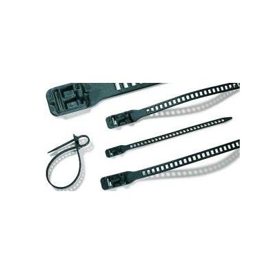 Opaska kablowa rozpinalna 180x7,0 SOFTFIX-XS-TPU-BK 16szt. HellermannTyton 115-07190