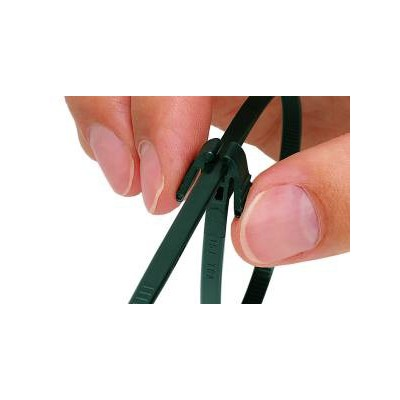 Opaska kablowa rozpinalna 300x4,8 REZ300-N66-BK 100szt. HellermannTyton 115-40300