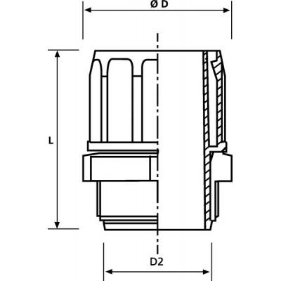 Złącze końcowe do rur FlexiGuard FG45-PG36 10szt. HellermannTyton 167-00516