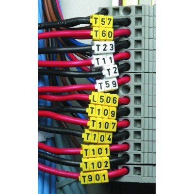 Oznacznik kablowy WIC1-C-PA-YE 200szt. HellermannTyton 561-01034