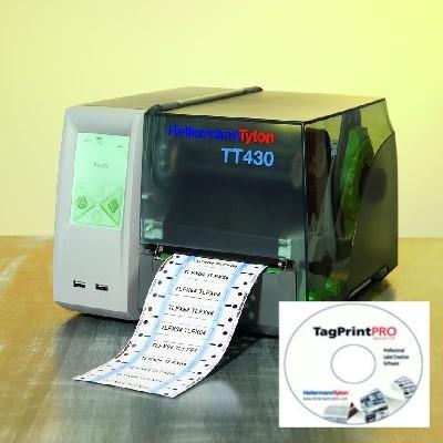 Zestaw drukarka TT430 z programem Tagprint Pro HellermannTyton 556-00450