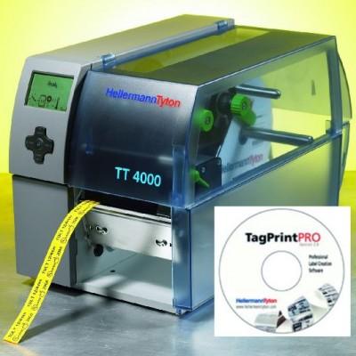 Zestaw drukarka TT4000+ z programem Tagprint Pro HellermannTyton 556-04000