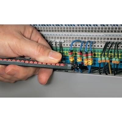 Zestaw oznaczników kablowych WIC0-L1L2L3N-Earth-PA-CC 200szt. HellermannTyton 561-00300