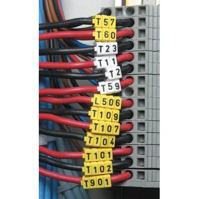 Zestaw oznaczników kablowych WIC1-L1L2L3N-Earth-PA-DIV 200szt. HellermannTyton 561-01300
