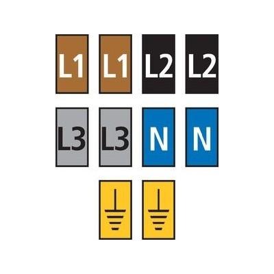 Zestaw oznaczników kablowych WIC2-L1L2L3N-Earth-PA-DIV 200szt. HellermannTyton 561-02300