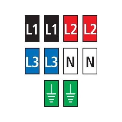 Zestaw oznaczników kablowych WIC1-L1L2L3N-Earth-PA-DIV 200szt. HellermannTyton 561-01302