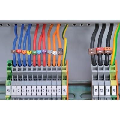 Oznaczniki do przewodów i kabli WIC0-1-PA-BN 200szt. HellermannTyton 561-00611