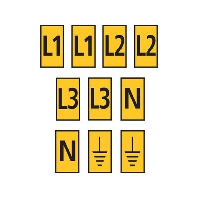 Zestaw oznaczników kablowych WIC0-L1L2L3N-Earth-PA-YE 200szt. HellermannTyton 561-00303