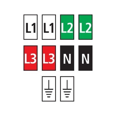 Zestaw oznaczników kablowych WIC0-L1L2L3N-Earth-PA-CC 200szt. HellermannTyton 561-00301