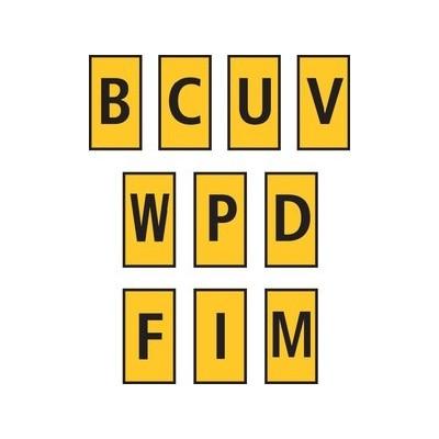 Zestaw oznaczników kablowych WIC0-BCUVWPDFIM-PA-YE 200szt. HellermannTyton 561-00005