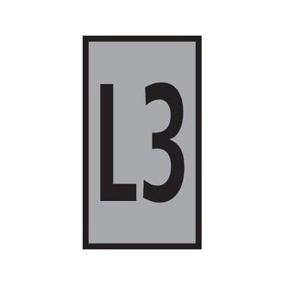 Oznaczniki do przewodów i kabli WIC3-L3-PA-GY 100szt. HellermannTyton 561-03338