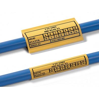 Oznacznik termokurczliwy bezhalogenowy TLFX 6,4/3,2 25 mm żółty - nadruk indywidualny